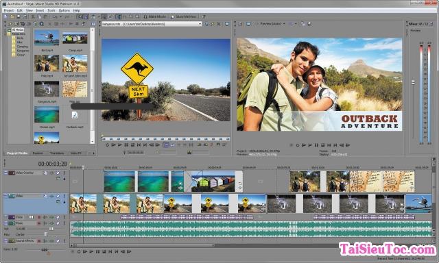 Giới thiệu Vegas Video Sony - Chuyển đổi, chỉnh sửa Video