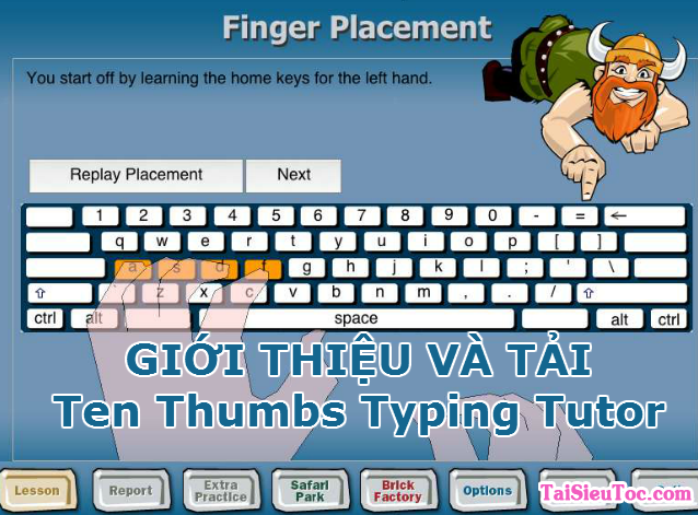 Tải Ten Thumbs Typing Tutor - Tập gõ 10 ngón cho Windows