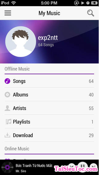 Tải phần mềm nghe nhạc Zing Mp3 cho iPhone và iPad + Hình 3