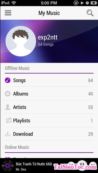 Tải phần mềm nghe nhạc Zing Mp3 cho iPhone và iPad + Hình 5