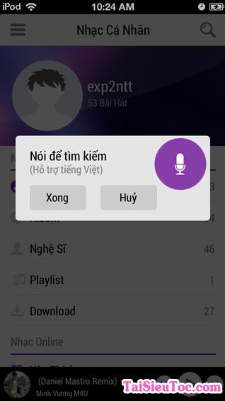 Tải phần mềm nghe nhạc Zing Mp3 cho iPhone và iPad + Hình 6