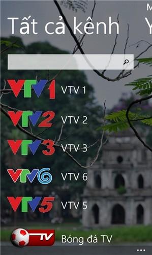 Tải phần mềm xem tivi - vnTV cho Windows Phone + Hình 2