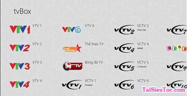 Tải tv Box - Phần mềm xem tivi free cho Windows Phone + Hình 2