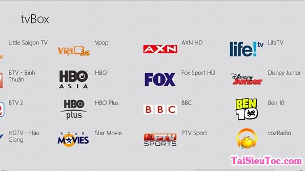 Tải tv Box - Phần mềm xem tivi free cho Windows Phone + Hình 5