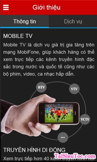 Tải và cài đặt phần mềm MobiFone TV cho Windows Phone + Hình 2