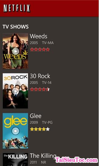 Tải Netflix - Phần mềm xem tivi free cho Windows Phone + Hình 3
