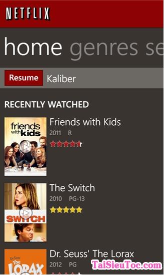 Tải Netflix - Phần mềm xem tivi free cho Windows Phone + Hình 5
