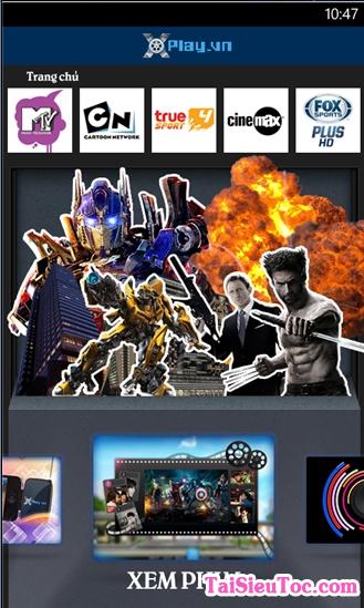 Tải Xplay - Phần mềm nghe nhạc, xem phim cho Windows Phone + Hình 2