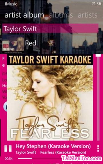 Tải ứng dụng nghe nhạc i-Music cho Windows Phone + Hình 2