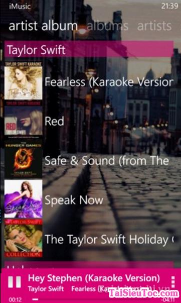 Tải ứng dụng nghe nhạc i-Music cho Windows Phone + Hình 3