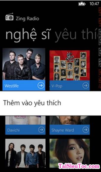 Tải ứng dụng nghe nhạc - Zing Radio cho Windows Phone + Hình 2