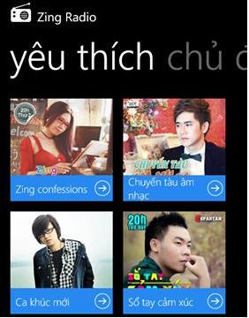 Tải ứng dụng nghe nhạc - Zing Radio cho Windows Phone + Hình 4