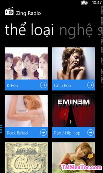 Tải ứng dụng nghe nhạc - Zing Radio cho Windows Phone + Hình 5