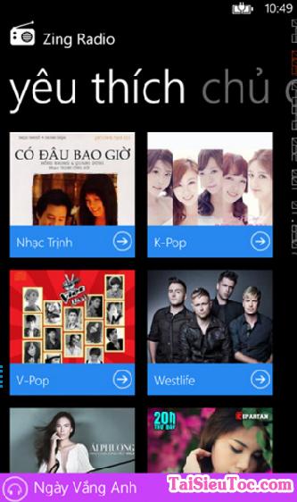 Tải ứng dụng nghe nhạc - Zing Radio cho Windows Phone + Hình 6