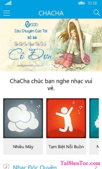 Tải Cha Cha - Phần mềm nghe nhạc cho Windows Phone + Hình 4