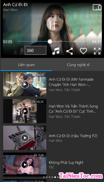 Tải phần mềm Nhaccuatui cho Windows Phone + Hình 6