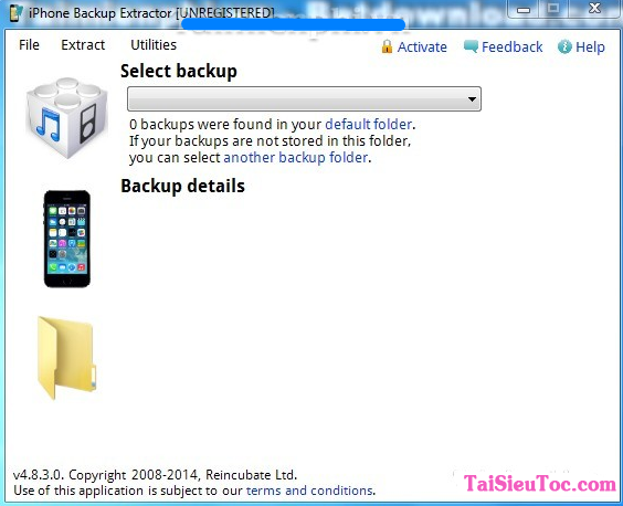 Tải iPhone Backup Extractor - Ứng dụng khôi phục dữ liệu trên Windows + Hình 2