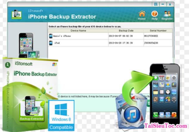 Tải iPhone Backup Extractor - Ứng dụng khôi phục dữ liệu trên Windows + Hình 3