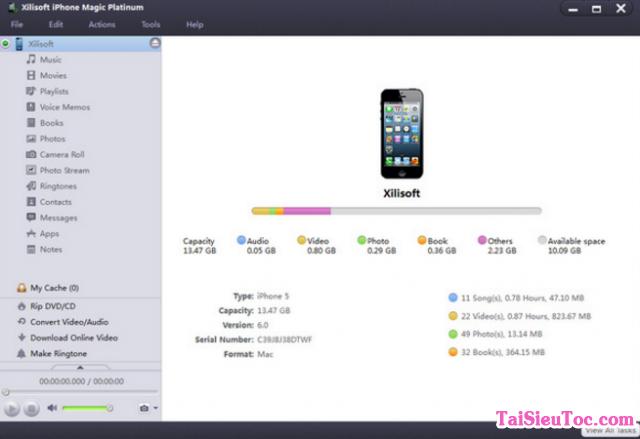 Hướng dẫn tải Xilisoft iPhone Transfer cho Windows + Hình 4