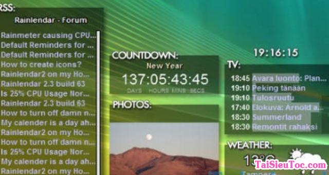 Tải phần mềm thiết kế lịch Rainlendar Lite cho Windows + Hình 3