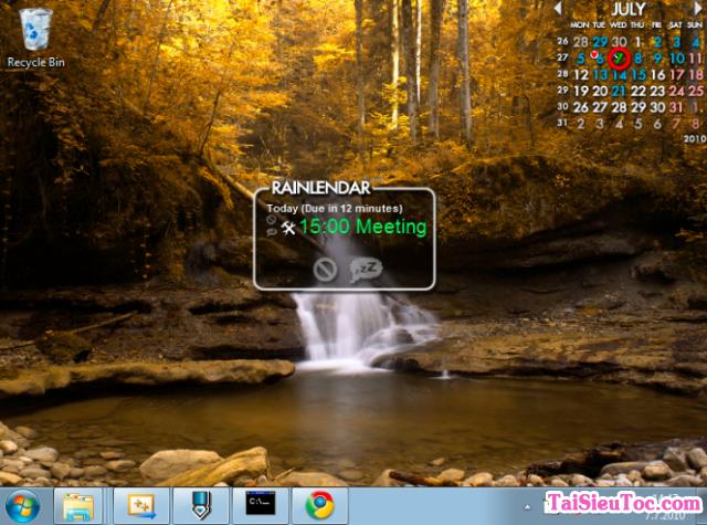Tải phần mềm thiết kế lịch Rainlendar Lite cho Windows + Hình 5