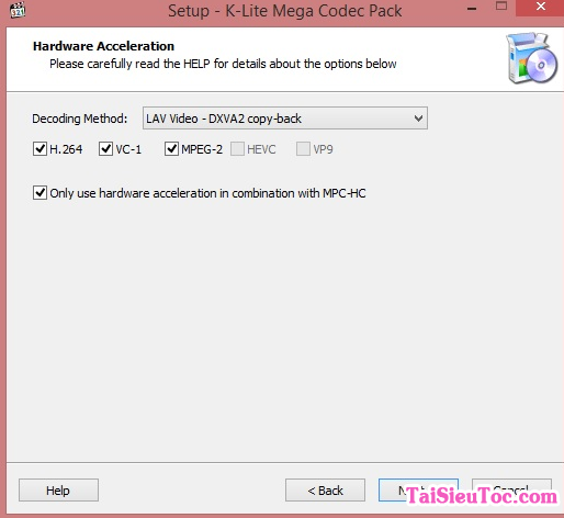Tải K Lite Mega Codec Pack cho máy tính Windows + Hình 3