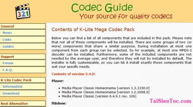 Tải K Lite Mega Codec Pack cho máy tính Windows + Hình 6