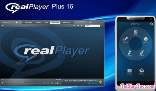 Tải phần mềm nghe nhạc, Audio, xem phim RealPlayer cho Windows + Hình 2