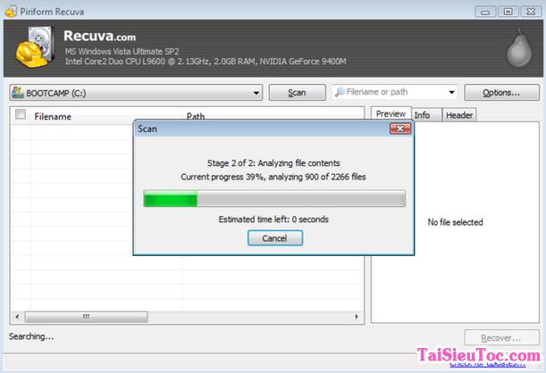 Tải cài đặt Recuva - Ứng dụng khôi phục dữ liệu bị mất trên windows + Hình 2