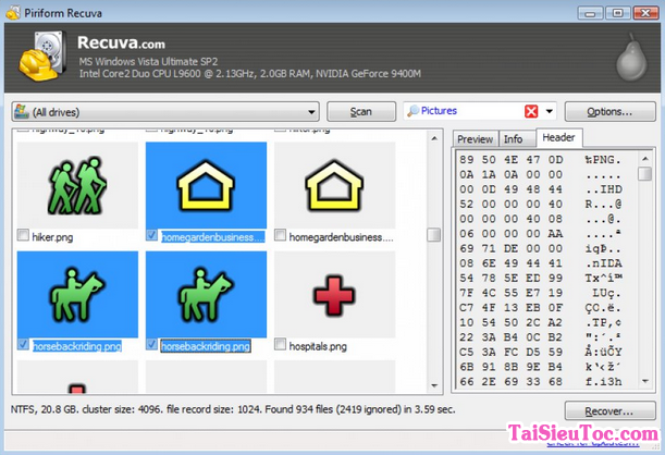 Tải cài đặt Recuva - Ứng dụng khôi phục dữ liệu bị mất trên windows + Hình 4