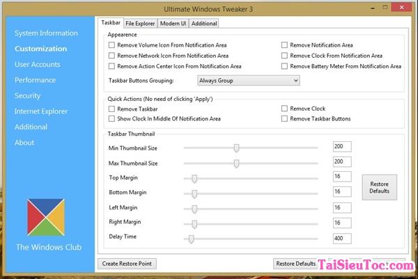 Hướng dẫn tải và cài đặt phần mềm Ultimate Windows Tweaker + Hình 2