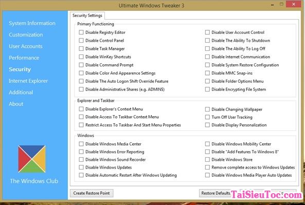 Hướng dẫn tải và cài đặt phần mềm Ultimate Windows Tweaker + Hình 3