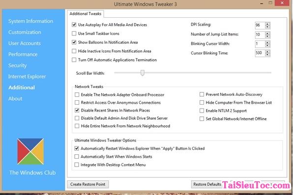 Hướng dẫn tải và cài đặt phần mềm Ultimate Windows Tweaker + Hình 4